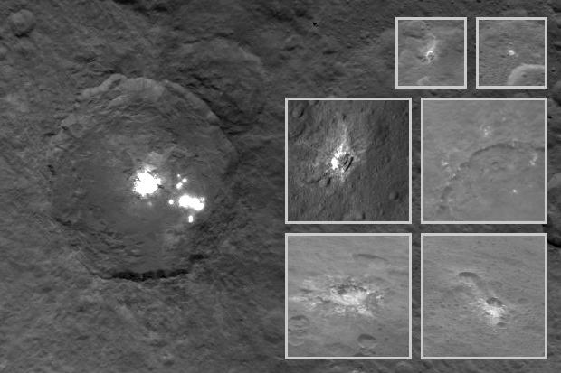 Ceres birght spots mosaic