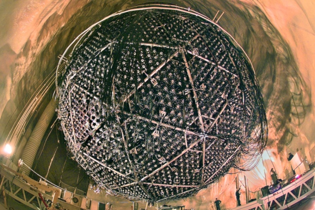 Il Sudbury Neutrino Observatory(SDO). Crediti: Lawrence Berkeley Nat'l Lab - Roy Kaltschmidt