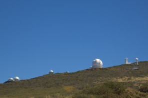 Le cupole dell'osservatorio di Roque des Los Muchachos