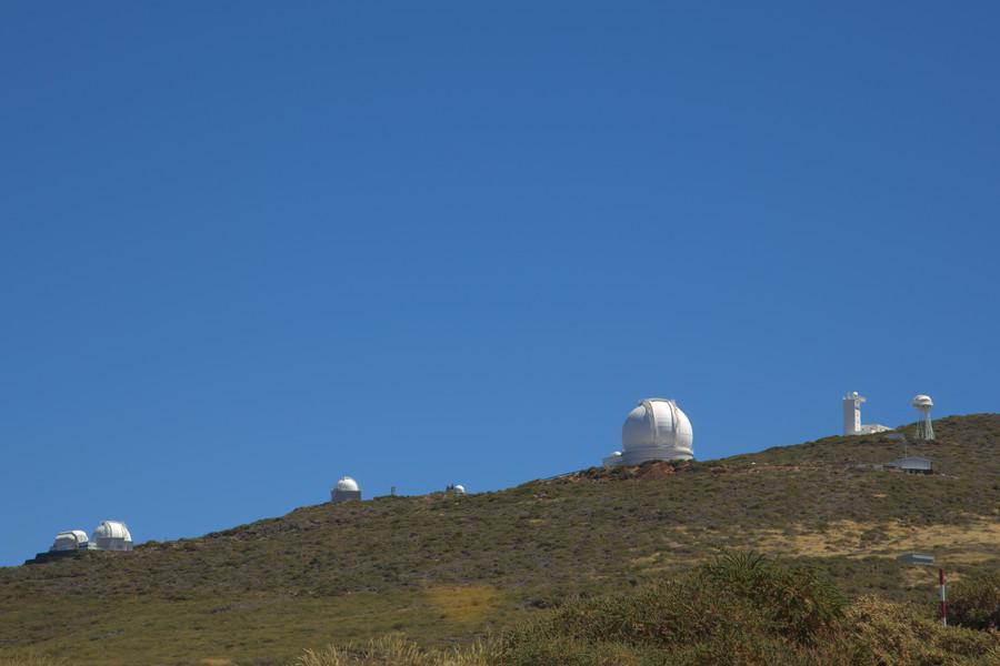 Le cupole dell, osservatorio di Roque des Los Muchachos