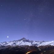 Monviso e Venere al chiaro di Luna