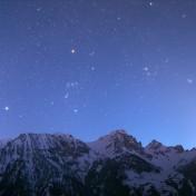 Panorama Orione Toro cane Minore stelle vallone dell'Arma