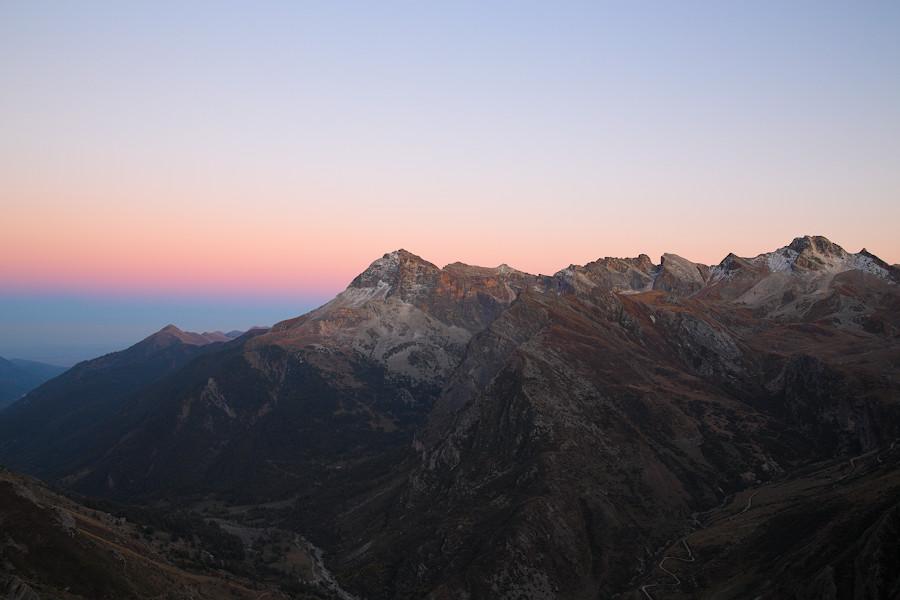 Vallone di Bellino tramonto