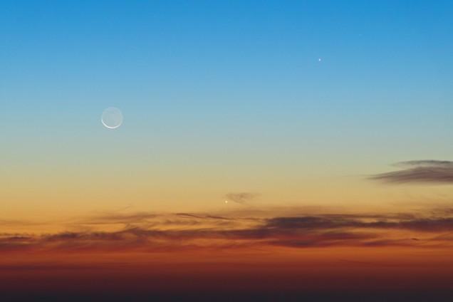 Luna, Venere e Giove