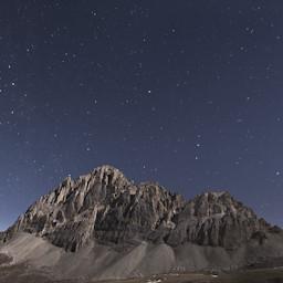 Rocca la Meja al chiaro di Luna.