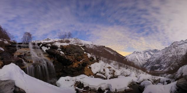 cascate vicino a Forno alpi Graie in val Grande (valli di Lanzo)