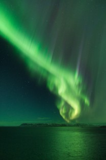Aurora boreale in Islanda.