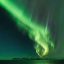 Aurora boreale in Islanda.