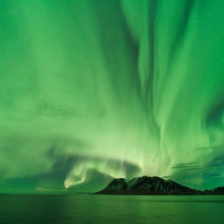 Aurora sul Kolgrafafjörður.