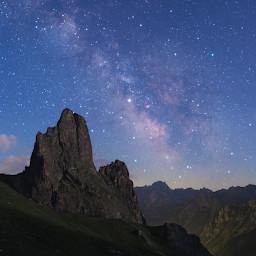 Saturno e il centro della Via Lattea in Alta Val Maira.