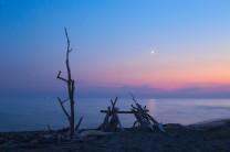 Venere al crepuscolo sul lungomare del Parco Regionale della Maremma.