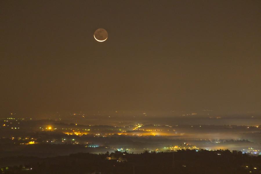 Luna calante inquinamento luminoso