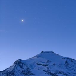 Venere all'alba sopra Punta di Charbonnel.
