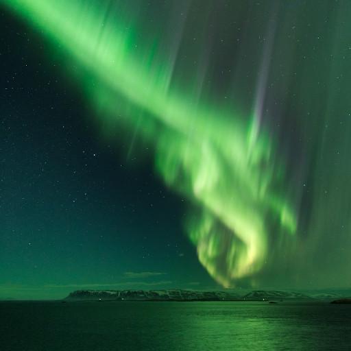 Aurora boreale nel cielo d'Islanda.