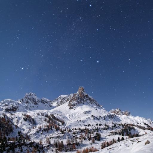 L'alta Val Clarée al chiaro di Luna.