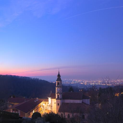 La stazione spaziale internazionale (ISS) sopra Torino.