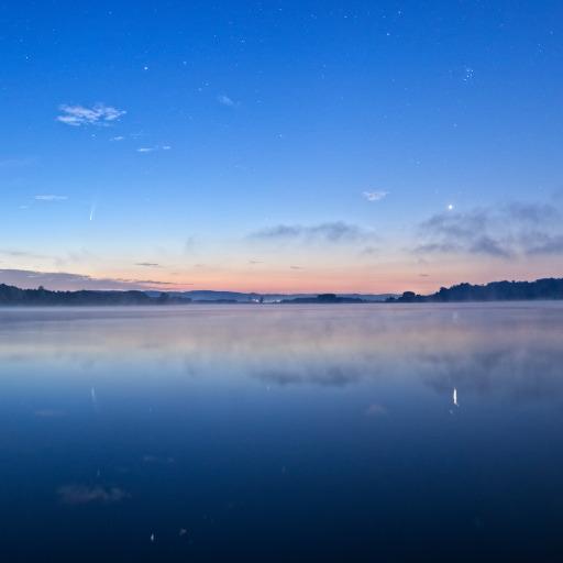 Crepuscolo al lago di Candia