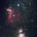 La cintura e la spada di Orione, con le rispettive nebulose.